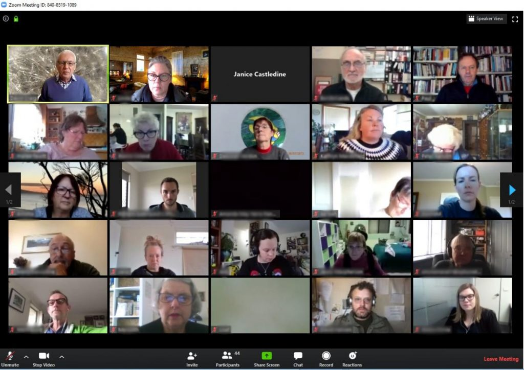 ZOOM Meeting - people on a video conference