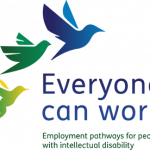 Logo of the Inclusion Australia 'Everyone Can Work' website